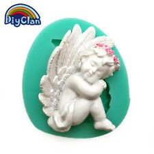 Silicone little angel cherub Embossed Mold Sugarcraft Cake Mould Decoupage M45