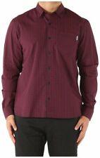 Carhartt Preston L/S Shirt Navy/Burgundy