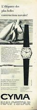 M- Publicité Advertising 1958 La Montre CYMA Navystar