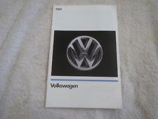 1989 VOLKSWAGEN VW CABRIOLET FOX JETTA GOLF GTI ORIGINAL DEALER SALES BROCHURE