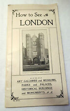 How to See London Travel Booklet from 1913
