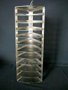 "11 Shelf  S.S. Pie Lab Freezer Rack for 2"" High Pie Boxes, 9.25"" Sides, 50°Angle"