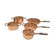 Le Chef 5-ply Copper 10 Piece Cookware Set with Copper Lid.
