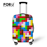 Colorful Fashion Elastic Travel Luggage Cover Suitcase Protector 18 20 24 26 28