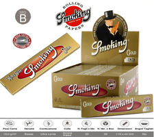 CARTINE SMOKING ORO KING SIZE SLIM LUNGHE GOLD SCATOLA DA   25 / 50 LIBRETTI  ✅