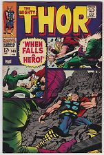 Thor #149 F+ 6.5 Loki The Wrecker Stan Lee Jack Kirby Art!