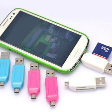 4 in 1 Multifunction USB 2.0 SD T-Flash Memory Card Reader OTG - Micro USB 5 PIN