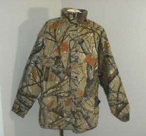 VTG USA MADE SKYLINE CAMO Apparition Hunting Jacket Full Zip Duck Canvas XL