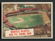 1961 Topps 406 MICKEY MANTLE Blasts 565 HR Baseball Trading Card ZOOM IN to VIEW