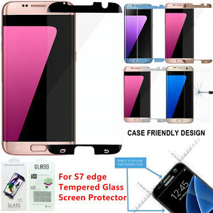 3-12 Lot Case Friendly Tempered Glass Screen Protector Galaxy S7/S8 Plus Edge