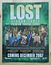 Lost Season Three 3 Premium Trading Cards dealers promotional sell sheet 2007