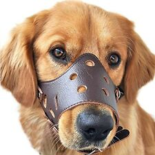 Pawliss Adjustable Anti-biting Dog Muzzle Leather Brown Large