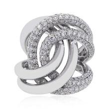 18k White Gold 2.57ctw Diamond Pave Swirl Ring
