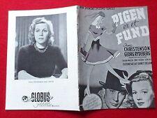 """Danish movie program.""""Flickan är ett Fynd"""" 1943.Swedish film.Irma Christenson"""