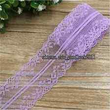 12 Yard, Bilateral Embroidered Net Lace Trim Ribbon Wedding trimming crafts FL98