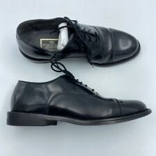 Stuart Mcguire Mens Oxfords Black Cap Round Toe Ortho-Vent Dress Formal 8.5