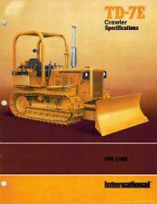 International Vintage Td-7E Crawler Specifications Brochure 1977
