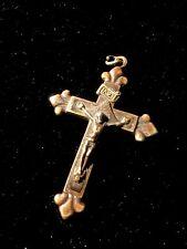 Stunning large Priests Pendant Crucifix , Christ Madonna Statue Rosary Lo