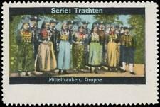 Reklamemarke Tracht Mittelfranken Gruppe - 429880