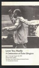 Duke Ellington Love you Madly Celebration 1979 brochure