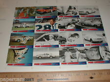 NASCAR auto racing Poster uncut Card Set Fred Lorenzon 1960 1961 1966 1967 Ford
