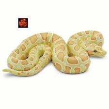 More details for albino burmese python 1:6 scale snake toy model figure by safari ltd 100250 new