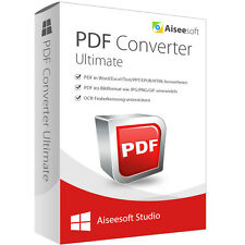 PDF Converter Ultimate WIN Aiseesoft Lebenslange Lizenz Download 34,-statt 69,-