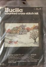 Bucilla Counted Cross Stitch Kit Winter Scene Kit 48675 Made in USA Unopened