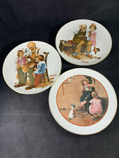 Set of 3 Collector Plates Norman Rockwell The Toymaker / The Cobbler /Young Love