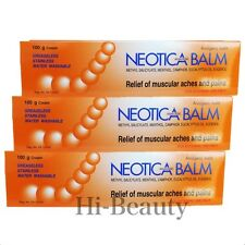 3 x 100g Neotica Balm Analgesic Muscular Pain Relief Ache Muscle Menthol Eugenol