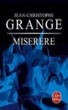 Miserere (Ldp Thrillers) (French Edition) Grange, Jean-Christophe Mass Market P