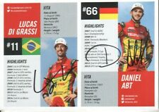 Lucas Di Grassi & Daniel Abt Autographed Photo Brazilian & German Race Drivers