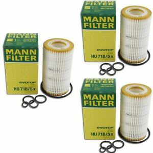 Mann Oil Filter HU718/5x 3 Pack