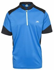 Trespass Mens Dudley Half Zip Active Stretch T-Shirt Cycling Wicking Quick Dry