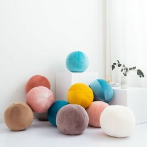 Ball Pillow Cushion Sofa with Zipper Soft Plush for Car Office Home Decoration