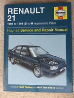 Renault 1986 - 1994 C to M Petrol Haynes Owners Workshop Manual 1397 Book