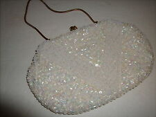 VTG BEADED SEQUINED EVENING BAG Broadway Handmade British Crown Colony Hongkong
