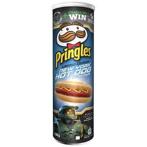 Pringles NEW YORK HOT DOG Potato Chips -195g - Made in Belgium-FREE SHIPPING