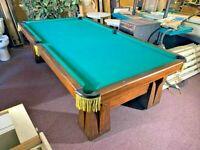 "BRUNSWICK POOL TABLE "" ARCADIAN "" RARE ANTIQUE 9FT COLLECTOR ITEM BILLIARDS 1923"