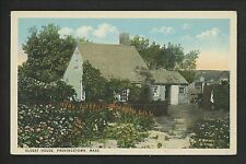 Massachusetts MA postcard Provincetown Oldest House garden cottage