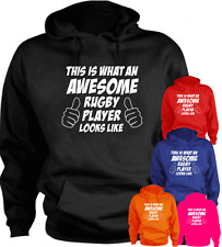 This Is What An Awesome Rugby Player Looks Like Gift New Hoodie Present