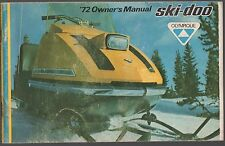 1972 SKI-DOO OLYMPIQUE SNOWMOBILE OWNERS MANUAL   (088)