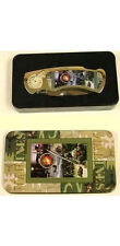 United States Marines Collectable Pocket Knife Folder in Metal Display Tin