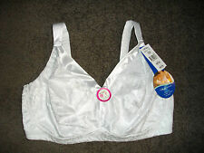 Playtex 18 HOUR: Size: 22 D. White WireFree, Firm Shaping, Supportive, Lined Bra