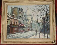 ORIGINAL Maurice BARLE Oil on Canvas Painting