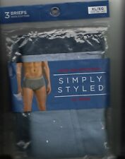 SIMPLY STYLED PACK OF 3 BRIEFS SIZE XL(38-40)-TAGLESS-NEW