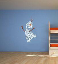 Frozen Olaf snowman Disney Nursery Bedroom Vinyl Wall Art Sticker