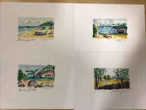 Set of 4 Alexandre Minguet Prints Signed and Numbered!