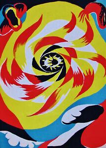 /'The sun/' Limited edition. TeriadeVerveMourlot, Paris c1938 ANDRE MASSON vintage original lithograph