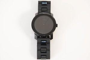 Movado Bold black stainless steel dot logo bracelet round quartz men watch $595